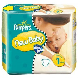 Pampers - Pack 22 Couches Premium Protection taille 1 sur Les Couches