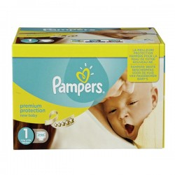 Pampers - Giga pack 242 Couches Premium Protection taille 1