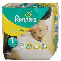 Pampers - Maxi giga pack 374 Couches Premium Protection taille 1 sur Les Couches