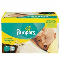 Pampers - Maxi giga pack 396 Couches Premium Protection taille 1 sur Les Couches