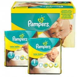 Pampers - Maxi mega pack 440 Couches Premium Protection taille 1 sur Les Couches