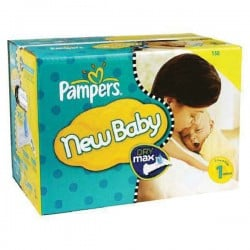 Pampers - Maxi mega pack 462 Couches Premium Protection taille 1 sur Les Couches