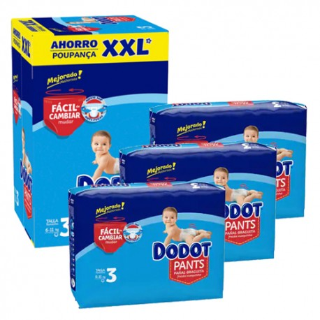 Dodot - Mega pack 111 Couches 0 taille 3 sur Les Couches