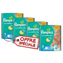 Pampers - Pack jumeaux 620 Couches Active Baby Dry taille 3 sur Les Couches