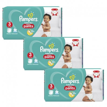 Pampers - Pack 57 Couches Baby Dry Pants taille 3 sur Les Couches