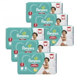 Pampers - Giga pack 228 Couches Baby Dry Pants taille 3 sur Les Couches