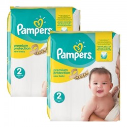Pampers - Maxi giga pack 312 Couches Premium Protection taille 2 sur Les Couches