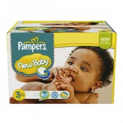 Pampers - Giga pack 204 Couches New Baby Premium Protection taille 3