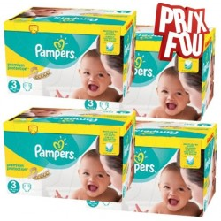 Pampers - Giga pack 272 Couches New Baby Premium Protection taille 3 sur Les Couches