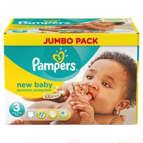 Pampers - Maxi mega pack 408 Couches New Baby Premium Protection taille 3 sur Les Couches