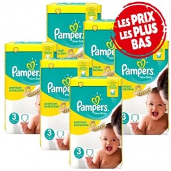 Pampers - Maxi mega pack 476 Couches New Baby Premium Protection taille 3