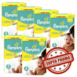 Pampers - Giga pack 261 Couches Premium Protection taille 3 sur Les Couches