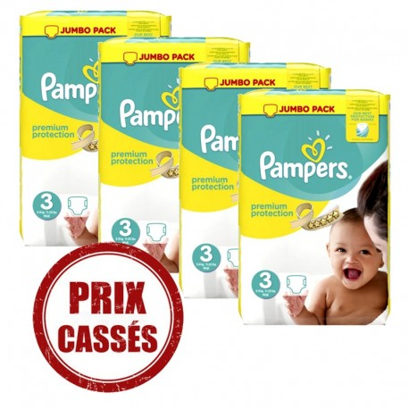 Pampers - Giga pack 290 Couches Premium Protection taille 3 sur Les Couches