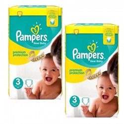 Pampers - Maxi giga pack 377 Couches Premium Protection taille 3 sur Les Couches