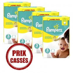 Pampers - Maxi mega pack 406 Couches Premium Protection taille 3 sur Les Couches