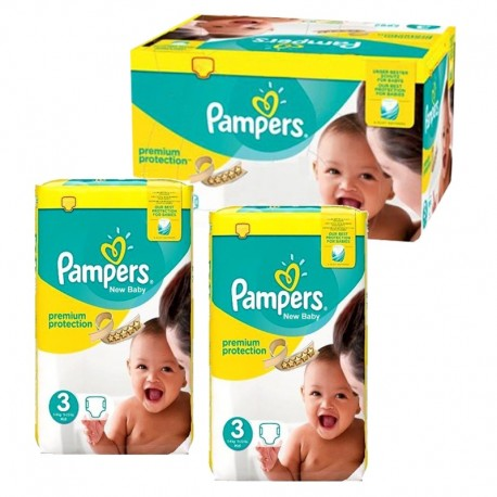 Pampers - Maxi mega pack 464 Couches Premium Protection taille 3 sur Les Couches