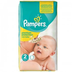Pampers - Pack 52 Couches Premium Protection taille 2 sur Les Couches