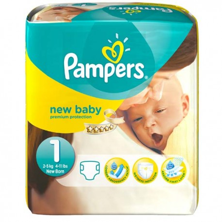 Pampers - Pack 56 Couches Premium Protection taille 1 sur Les Couches