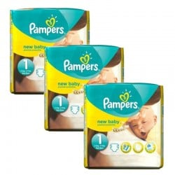 Pampers - Mega pack 168 Couches Premium Protection taille 1 sur Les Couches