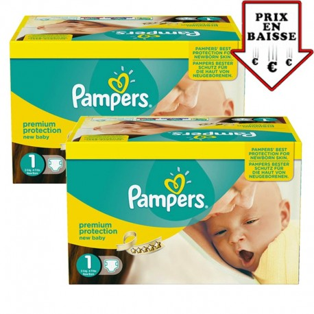Pampers - Giga pack 280 Couches Premium Protection taille 1 sur Les Couches