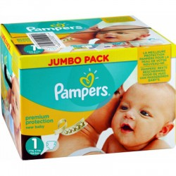 Pampers - Pack jumeaux 504 Couches Premium Protection taille 1 sur Les Couches