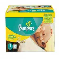 Pampers - Pack jumeaux 616 Couches Premium Protection taille 1 sur Les Couches