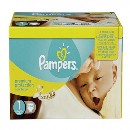 Pampers - Pack jumeaux 840 Couches Premium Protection taille 1 sur Les Couches