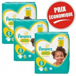 Pampers - Mega pack 136 Couches Premium Protection taille 5 sur Les Couches