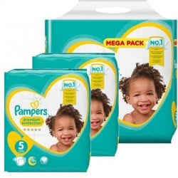 Pampers - Pack jumeaux 544 Couches Premium Protection taille 5 sur Les Couches
