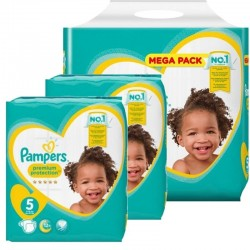 Pampers - Pack jumeaux 612 Couches Premium Protection taille 5 sur Les Couches