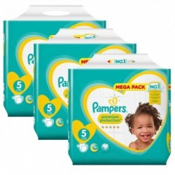 Pampers - Maxi giga pack 340 Couches Premium Protection taille 5 sur Les Couches