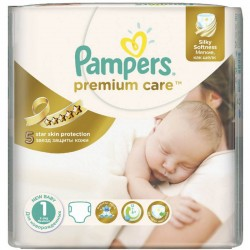 Pampers - Pack 52 Couches Premium Care taille 1