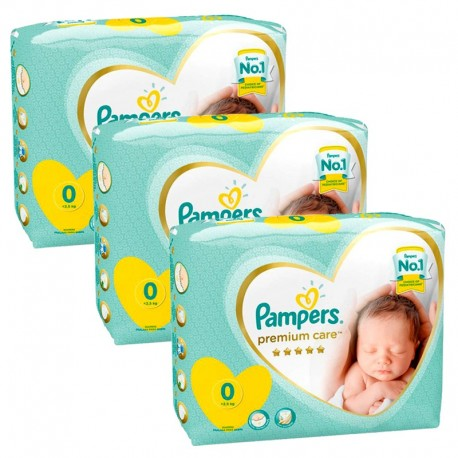 Pampers - Mega pack 180 Couches Premium Care taille 0 sur Les Couches
