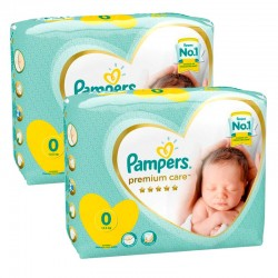 Pampers - Giga pack 210 Couches Premium Care taille 0