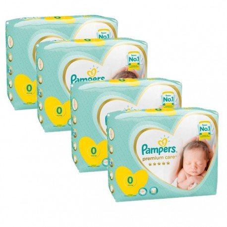 Pampers - Giga pack 240 Couches Premium Care taille 0 sur Les Couches