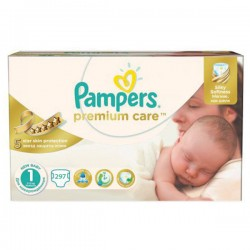 Pampers - Mega pack 104 Couches Premium Care taille 1
