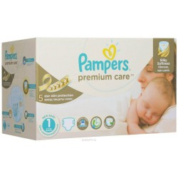 Pampers - Giga pack 208 Couches Premium Care taille 1