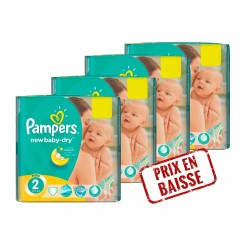 Pampers - Mega pack 136 Couches New Baby Dry taille 2 sur Les Couches