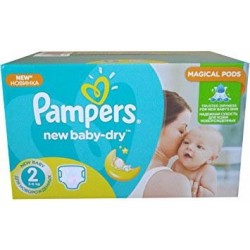 Pampers - Pack jumeaux 612 Couches New Baby Dry taille 2 sur Les Couches