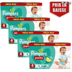 Pampers - Maxi mega pack 496 Couches Baby Dry Pants taille 4 sur Les Couches