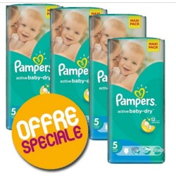 Pampers - Pack 84 Couches Active Baby Dry taille 5 sur Les Couches
