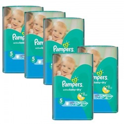 Pampers - Giga pack 294 Couches Active Baby Dry taille 5 sur Les Couches