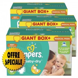 Pampers - Maxi giga pack 336 Couches Active Baby Dry taille 5 sur Les Couches