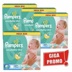 Pampers - Pack jumeaux 522 Couches Active Baby Dry taille 4+ sur Les Couches