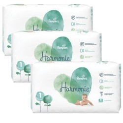 Pampers - Pack jumeaux 612 Couches Harmonie taille 1 sur Les Couches