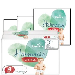 Pampers - Mega pack 116 Couches Harmonie Pants taille 4 sur Les Couches