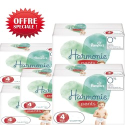Pampers - Giga pack 290 Couches Harmonie Pants taille 4 sur Les Couches