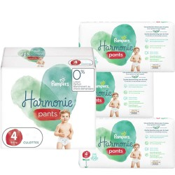 Pampers - Maxi giga pack 348 Couches Harmonie Pants taille 4 sur Les Couches