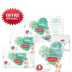 Pampers - Maxi mega pack 406 Couches Harmonie Pants taille 4 sur Les Couches