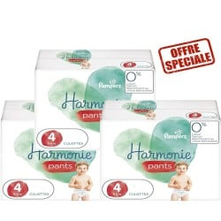 Pampers - Maxi mega pack 464 Couches Harmonie Pants taille 4 sur Les Couches